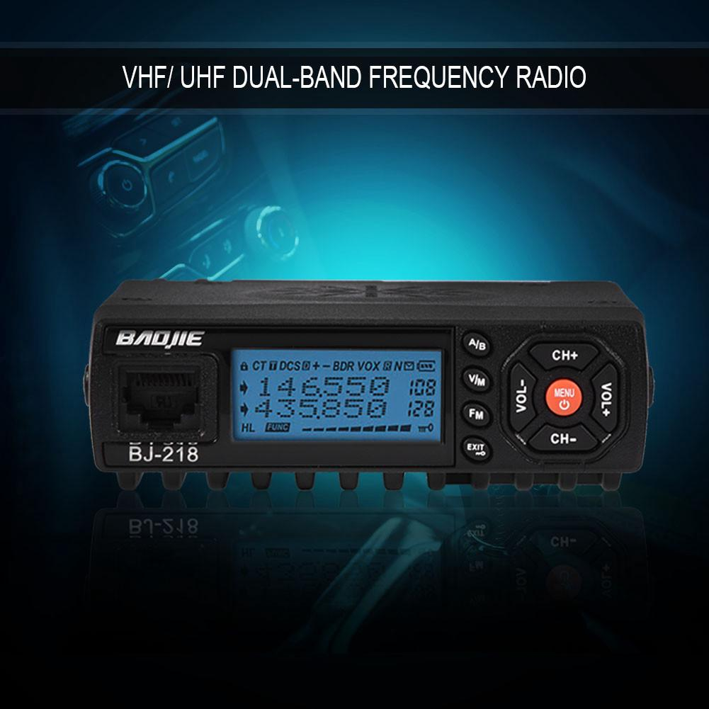 Mini Auto Car Mobile Fm Radio Vhf Uhf Dual Band Vehicle Transceiver Remote Control Using Dtmf Receiver 1 Of 10