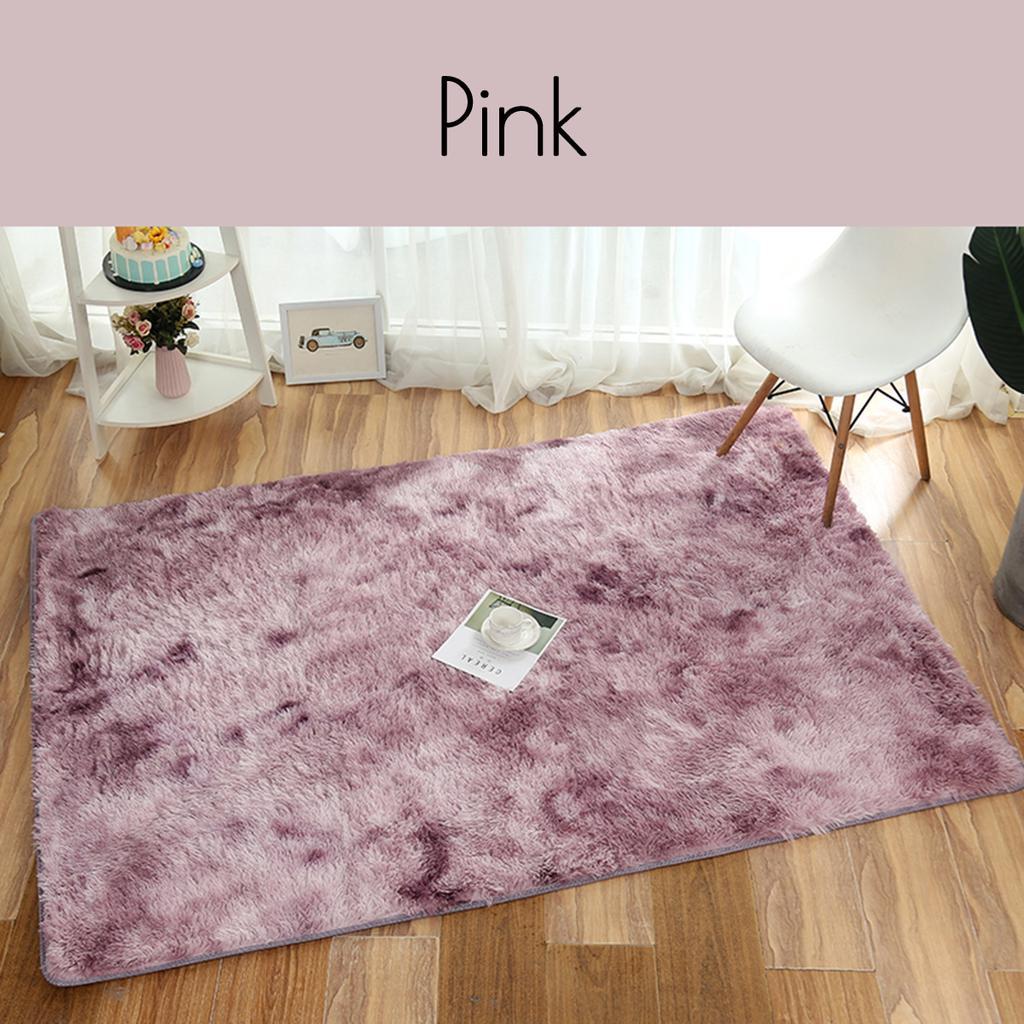 Новый 1X плюшевый лохматый ковер градиент цвет галстук краситель ковры на пол гостиной домашний декор