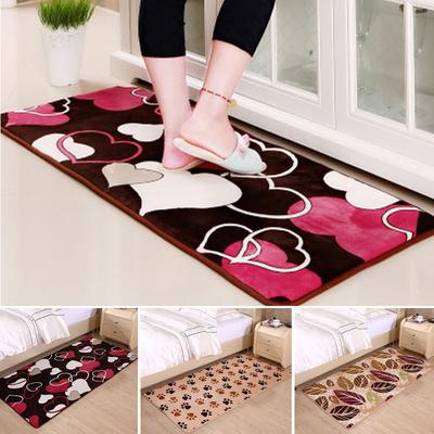WS Home Decor Bedroom Coral Carpet Kitchen Bathroom Mat Breathable Skid Proof