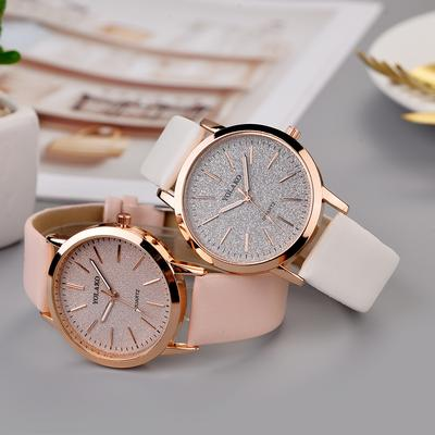 Women'S Watches Fashion Casual Leather Strap Analog Quartz Wristwatches Gifts