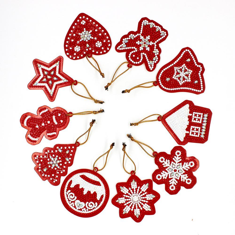 Hanging Christmas Tree Pendant 5D Diamond Painting Xmas Ornament Cross Stitch