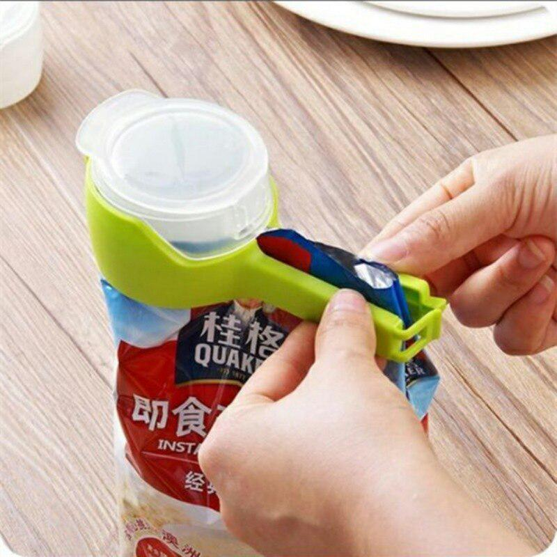 4PCS Food Snack Storage Seal Sealing pour Bag Clips Sealer Food Clip Clamp Tools