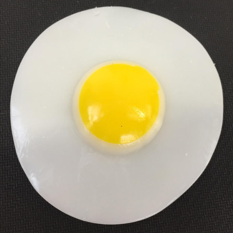 10pcs 1:12 Dollhouse Miniature DIYResin Simulation Food Fried Eggs Poached##