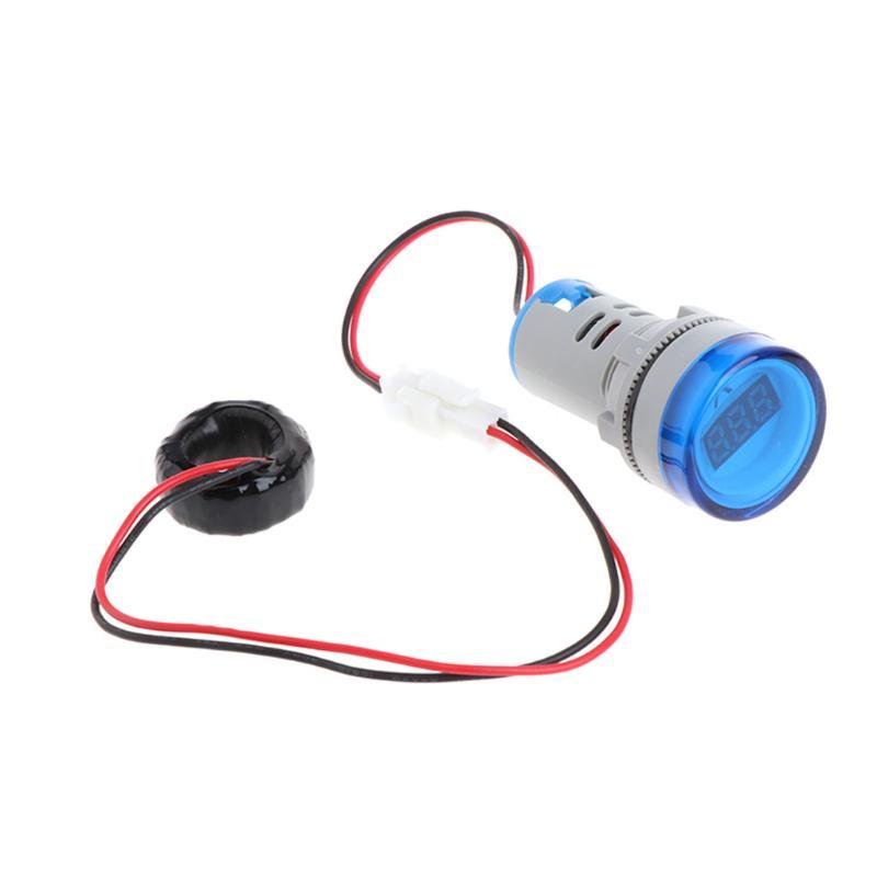 AC 220V 0-100A Digital Ammeter Display Monitor Current Measuring Meter White