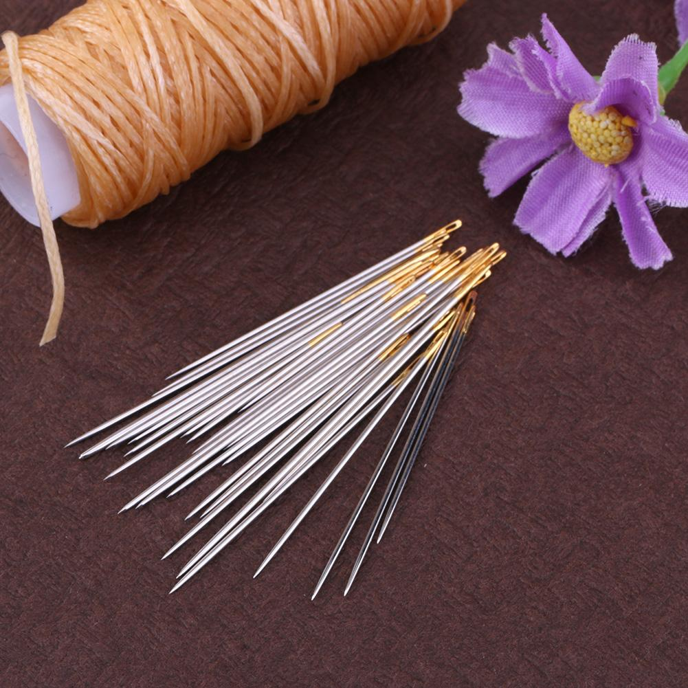 Large 30pcs Golden Color Eye Cross Stitch//Embroidery Hand Needles Size 24
