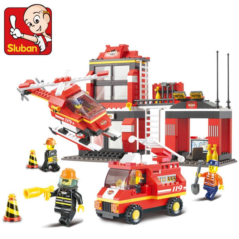 Fire Station 533 Pcs Building Blocks Bricks For Children