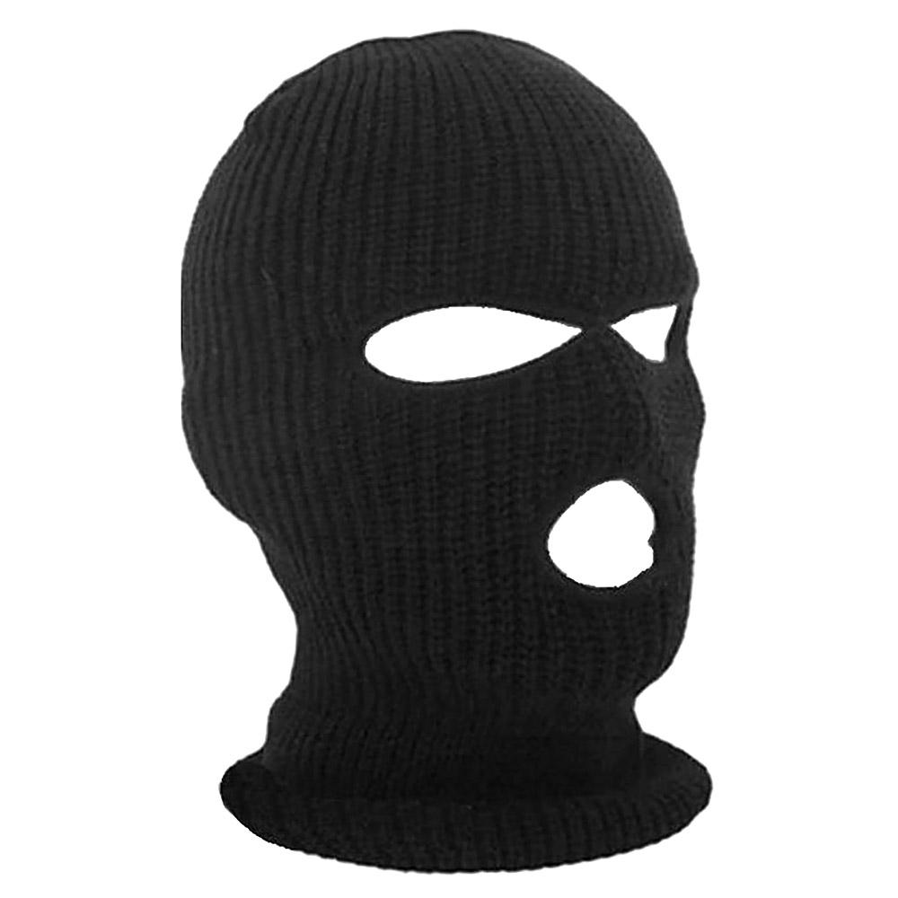 3 Hole Full Face Ski Mask Winter Cap Hood Beanie Warm Hats For Outdoor Sports
