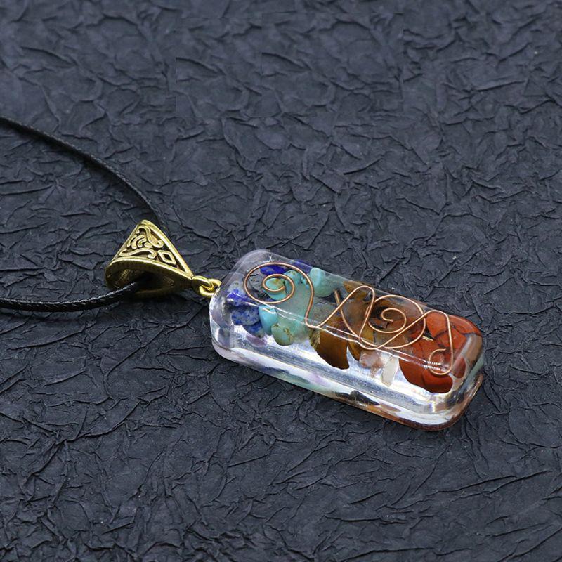 Lot of 4 Orgonite Orgone Chakra Stone Copper Coils EMF Protection Pendants Reiki
