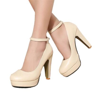 bec14ae85 Женщины насосы высокие каблуки мелкий рот платформы лодыжки пряжкой ремень  обувь