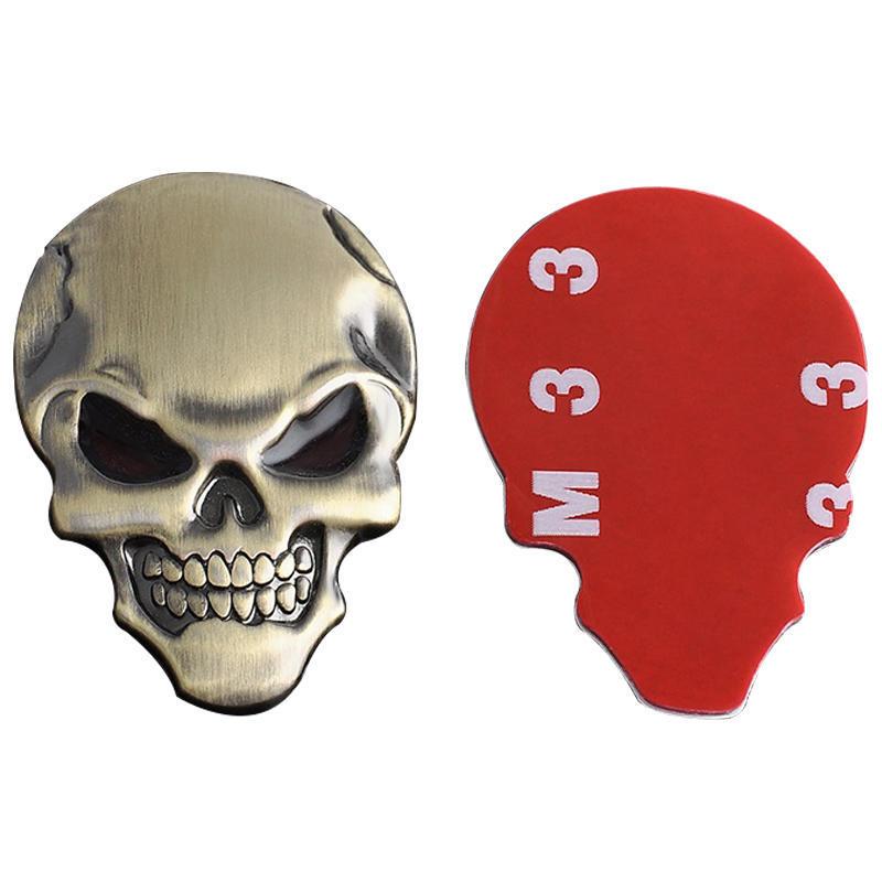Moda Punk Calavera 3D esqueleto insignia coche/moto Metal etiqueta ...