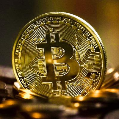 Bitcoin Commemorative Coin Collectible BTC Plate Art Collection Metal Antique Imitation