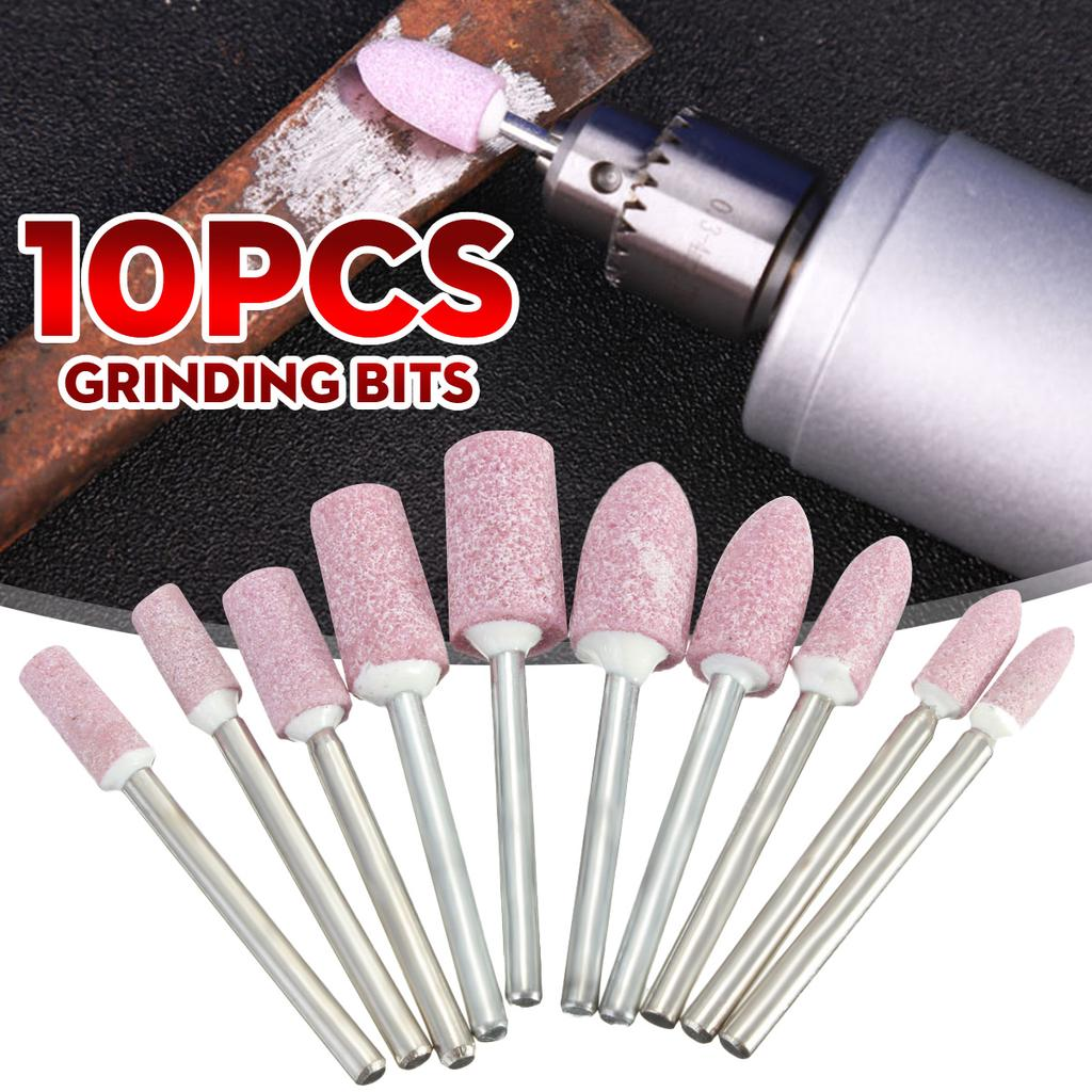 10pcs Abrasive Mounted Stone Rotary Tool Grinding Wheel 1//8 Shank