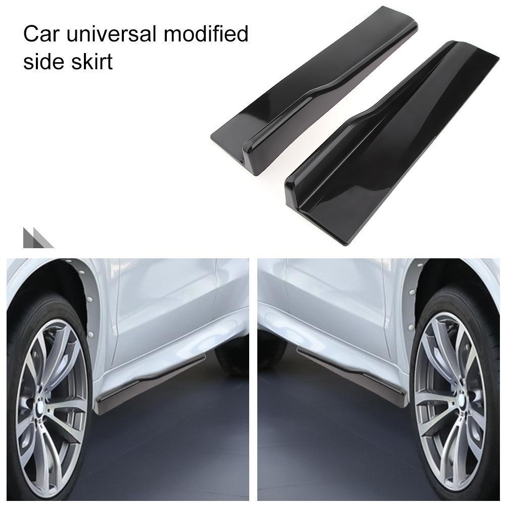 Extension Side Skirts Car 3D Carbon Fiber Shovel Rocker Splitters Protector