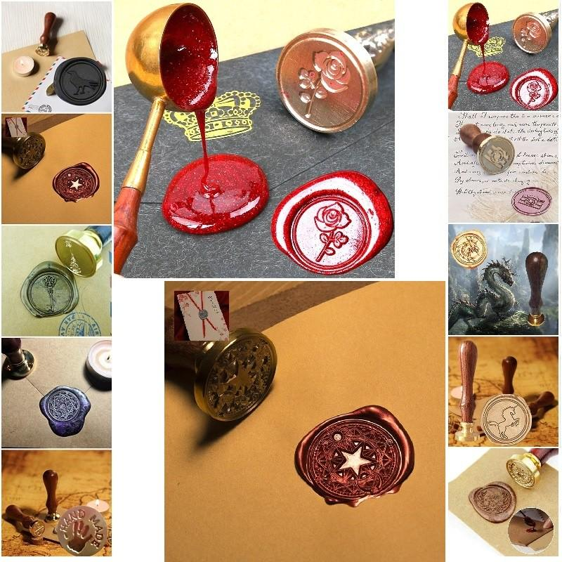 Brown  Coffee Color Sealing Wax Stick  Sealing Wax Bead for Wax Seal Stamp