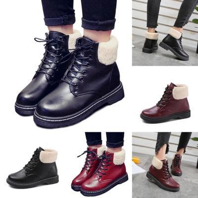 Brand Shoes Warm Shoes Plush Women Ankle Boots Boots Female Winter Shoe  Fashion Boots Size 35 46dcf12f946d