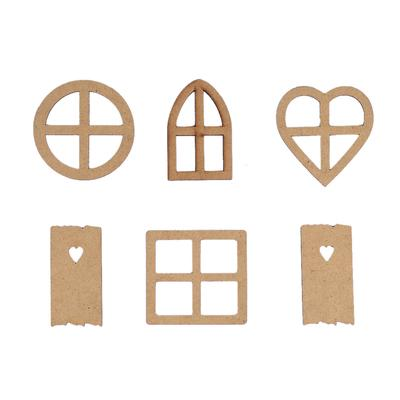 Wooden Blank Star Embellishments Decoration for DIY Wood Crafts 8x8cm 25pcs