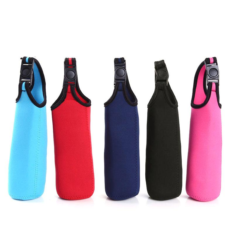 1Pc Sport Water Bottle Cover Neoprene Case Insulator Sleeve Bag Pouch Strap Hot