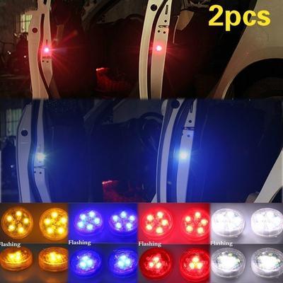 4PCS Car-Styling 5 LED Light  Anti Collision Car Door Light Strobe Light Blue