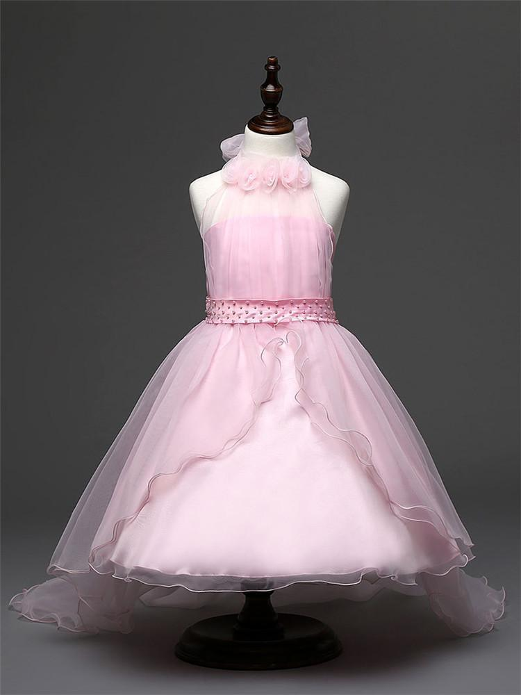 Niños niñas niño princesa flor de Dama de honor boda vestido ...