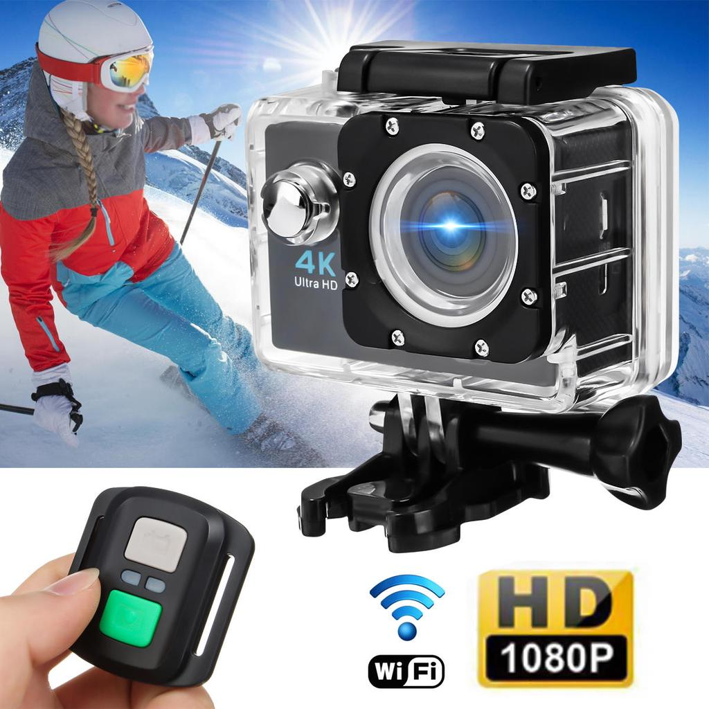 H16r Action Camera Ultra Hd 4k Wifi 1080p 720p 30fps 20 Lcd Sport Cam Full With Remote Helmet Waterproof Sports Dv Buy At A Low Prices On Joom E Commerce Platform