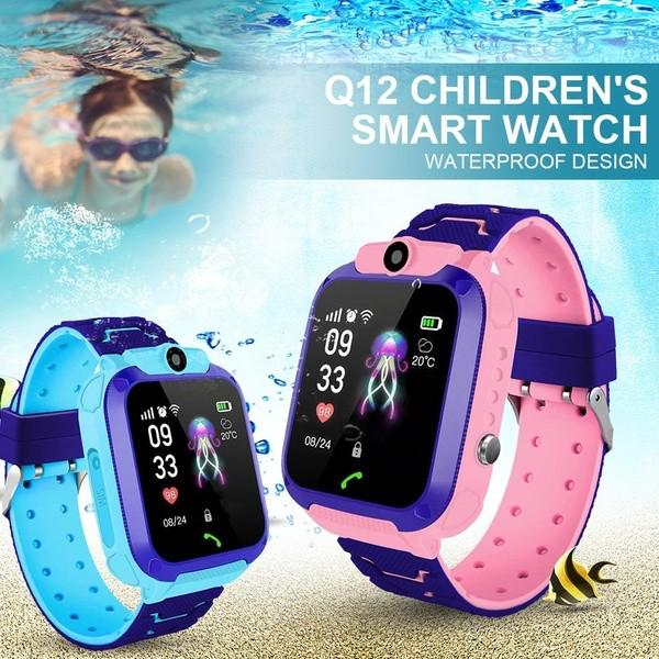No 12 Дети Смарт-часы IP67 водонепроницаемые дети GPS Трекер anti-Lost SOS Телефон Смотреть для IOS Android фото