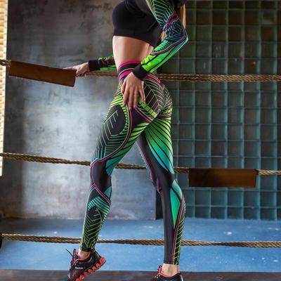 Digital Printing Leggings Women Push Up Workout Legging High Waist Yoga Pants