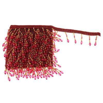 1 Yard Curtain Tassel Edging Fringe Trim Sewing Accessories Coffee+Wine red