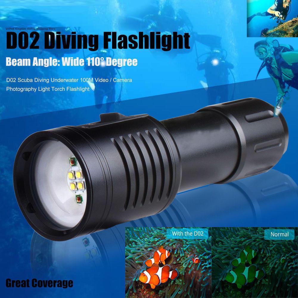 8000LM Waterproof 3x XML L2 LED Scuba Diving Underwater 100M Flashlight Torch UK