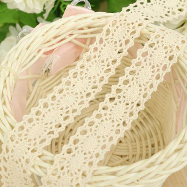 "2-1//3/"" x 10 Yd Ivory Crochet Lace Ribbon"