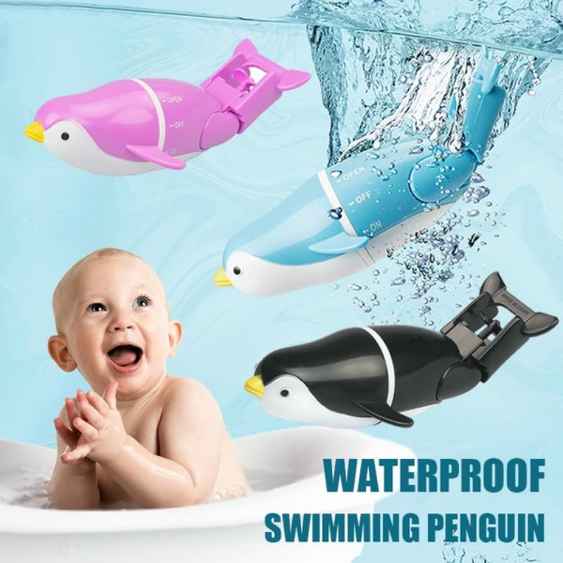 QINGBAO Bath Toys,Swimming Penguin Water Bath Toys Water Tub Pool Toys