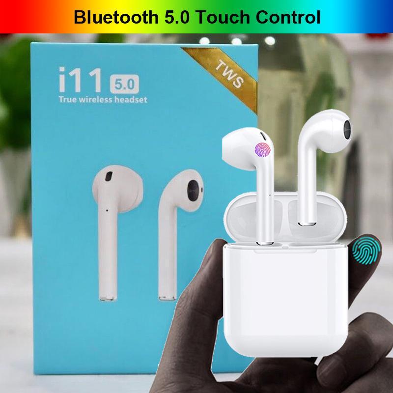 I11 TWS Mini 5.0 Bluetooth Earphone Беспроводные наушники Сенсорный контроль Портативный невидимый наушник для Samsung Huawei Все смартфоны