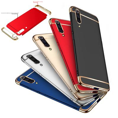 Luxury 3 In 1 Matte Hard Plastic Full Protection Case Back Cover For iPhone Samsung Huawei Xiaomi