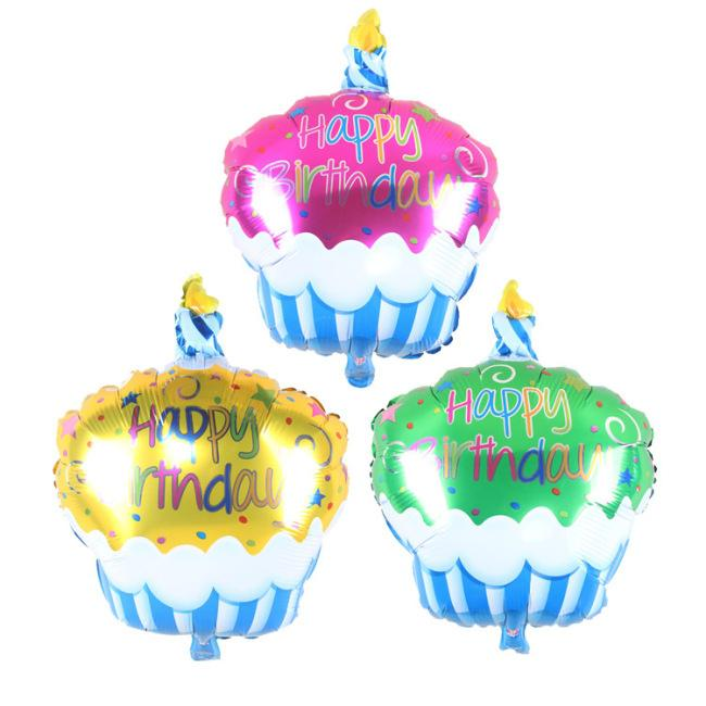 Surprising 1Pc Birthday Cake With Candle Helium Foil Balloons Happy Birthday Personalised Birthday Cards Bromeletsinfo