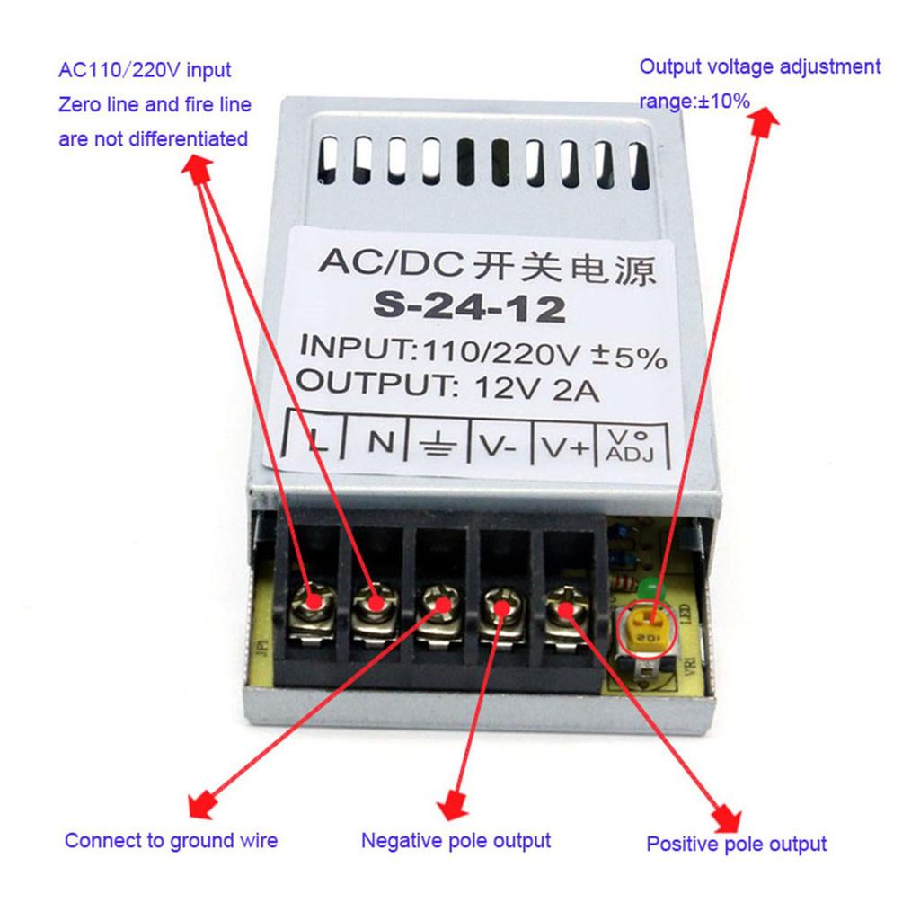 Eenergy Universal Ac Dc Switching Power Supply 12v 2a 24w Ultrathin Wiring 12 Volt To 2 Of 10