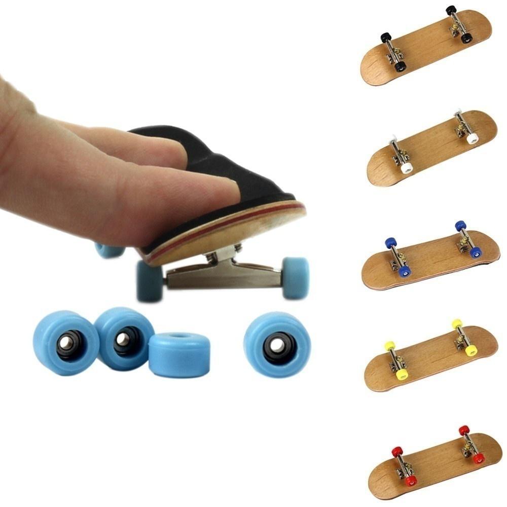 Alloy Pro Bearing Wheels Maple Mini Skateboards Stent Fingerboard Finger Toys