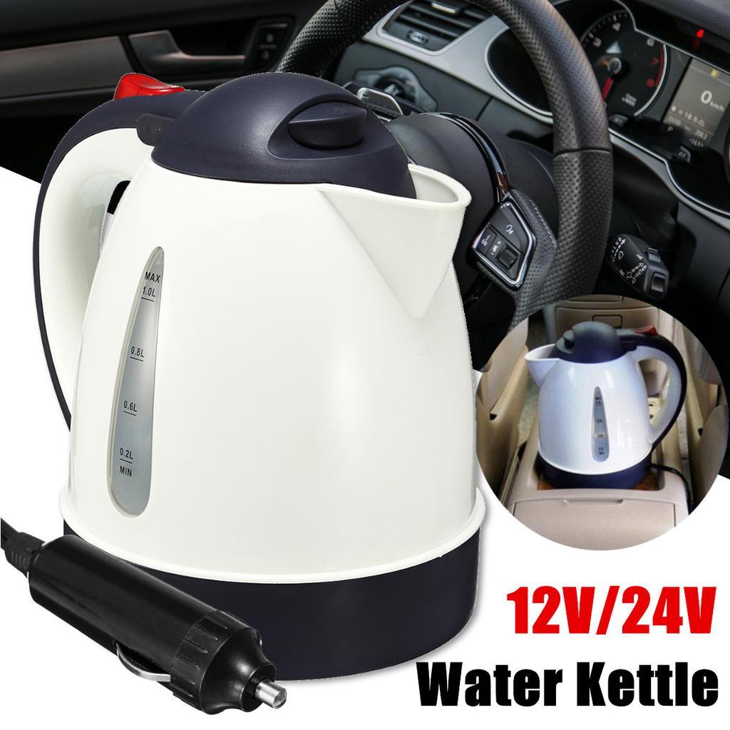 1L 12//24V Travel Car Truck Kettle Water Heater Bottle Tea Coffee Making Travel