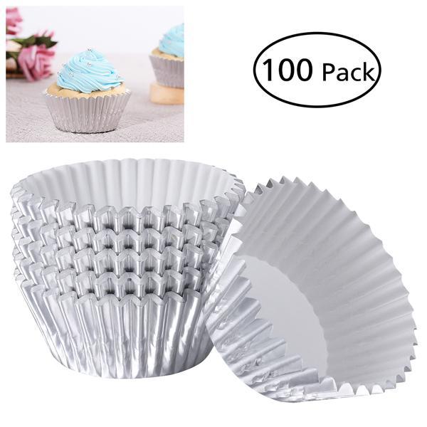 Pack of 45 PME Silver Foil Mini Cupcake Cases