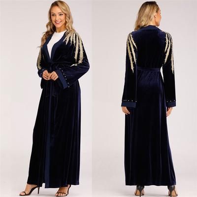 87b21716db7 Women Ethnic Robes Abaya Islamic Muslim Middle East Maxi Dress Bandage  Kaftan