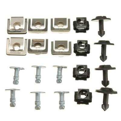 M6 SPIRE CLIPS CHIMNEY NUTS SPEED CLIPS U NUTS LUG NUT FASTENERS WITH LEG YELLOW