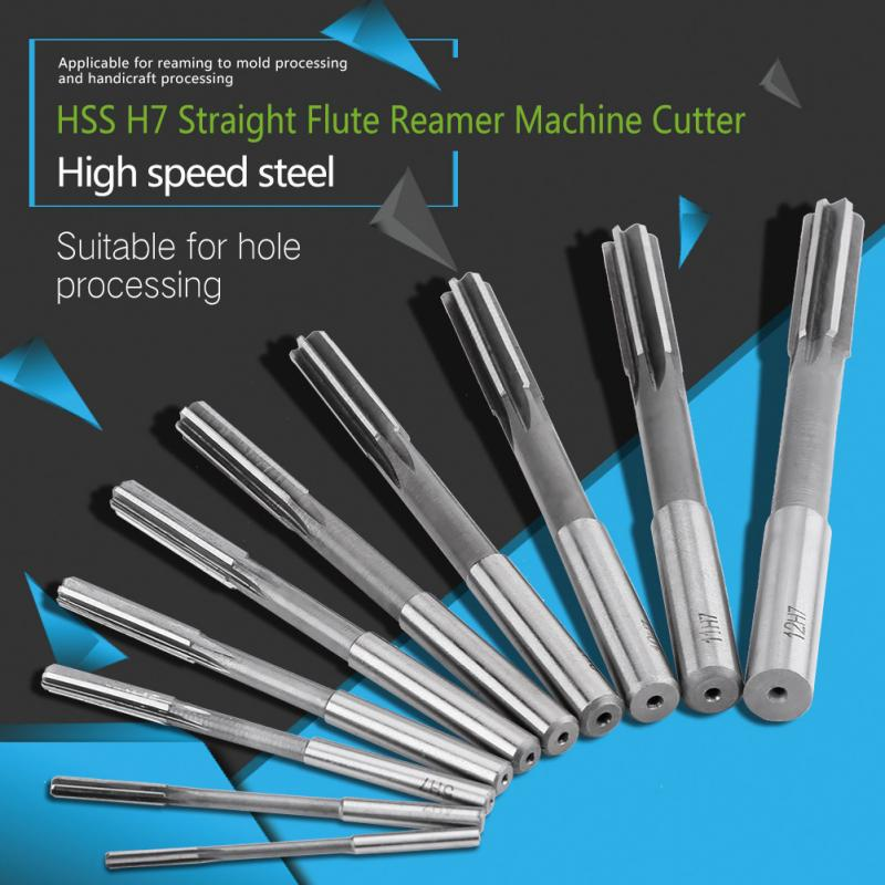 Wood Copper 8pcs HSS H8 Straight Shank Machine Reamer Set 3//4//5//6//7//8//9//10mm High Speed Steel for Iron Aluminum And Other Soft Materials.