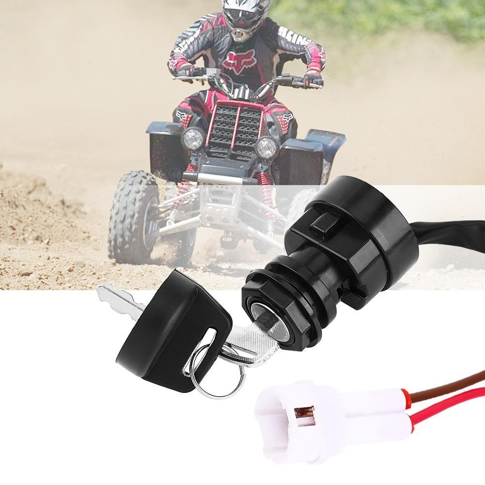 1SET 2 Pin Motorrad ATV Zündschlüssel Schalter für Yamaha YFM 350 ...