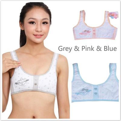 eefafe9286 Puberty Girls teenager Padded Bra Soft Touch Cotton Training vest bra  Underwear