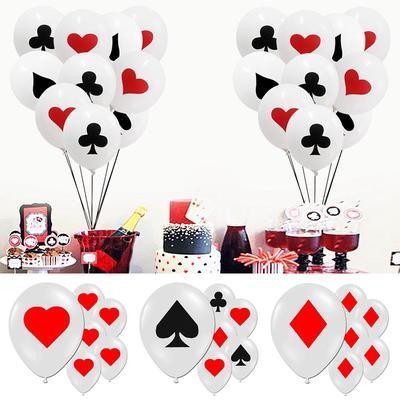 POKER CONFETTI SET Red Black Hearts Spades Diamonds Club Sign Table Decor 2-2