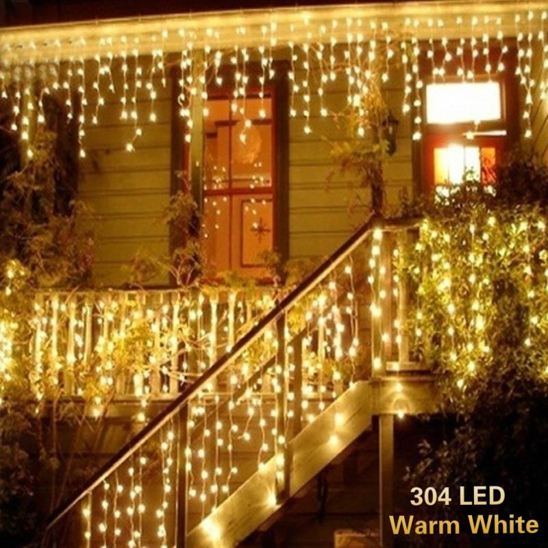 LED String Fairy Net Lights Curtain Mesh Waterproof For Christmas Tree Party DIY