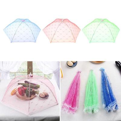Safe Food Gauze Food Covers Umbrella Style Anti Mosquito Bugs Table Cover Tool