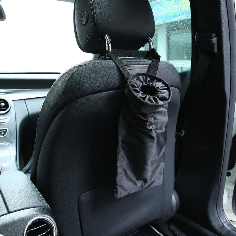 Car trash can garbage hanging bag holder container auto back seat storage baYJS5
