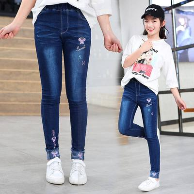 Cruiize Girls Warm Fleece Winter Fashion Denim Solid Legging Pant