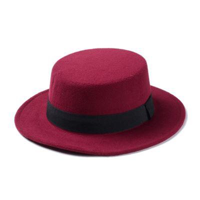 e76d946df70 Women Fashion Wide Brim Hats Comfortable Fedoras Dampproof Worsted  Ventilate Cap