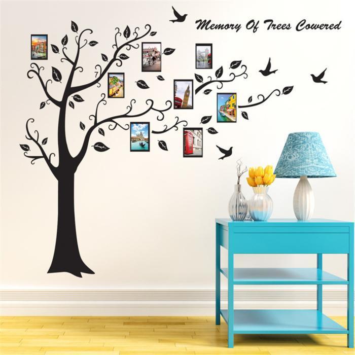 Extraíble foto marco árbol pared calcomanía familia Sticker Mural ...