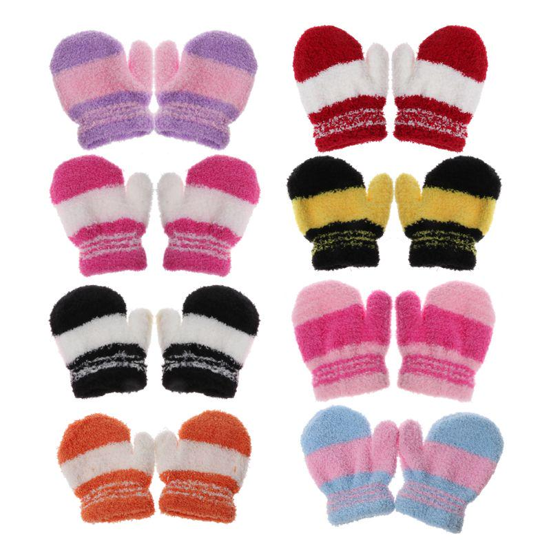 Gloves For Children kids Christmas Half Finger Antler Convertible Flip Top Gloves